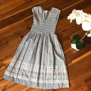 Max Studio Smocked Top Dress